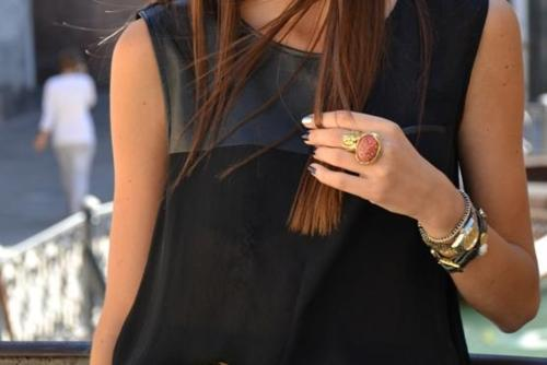 black, bracelet, bracelets, brunette, fashion