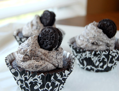 black, cupcake, delicious, food, oreo cupcakes