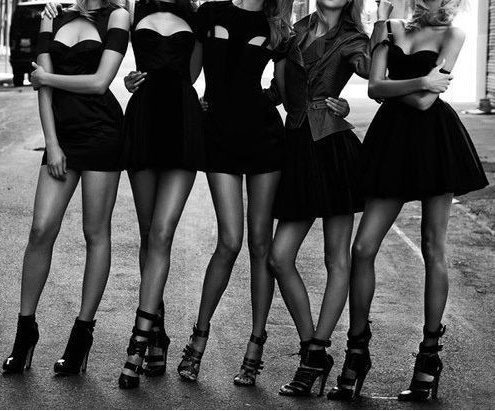 black dress, dress, fashion, girls , legs