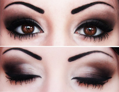 black, eyeliner, make up, makeup, mascara