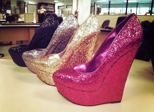 black, fashion, gold, heels, photography, pink, pretty, shoes, silver, sparkly