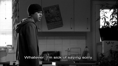 black, grey, love, nice, people, quote, sid, skins, text
