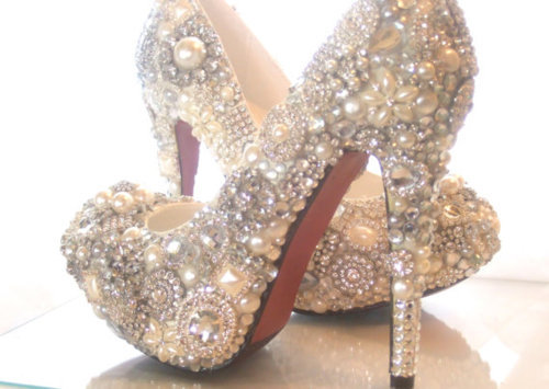 bling, cute, gems, glitter, high heels