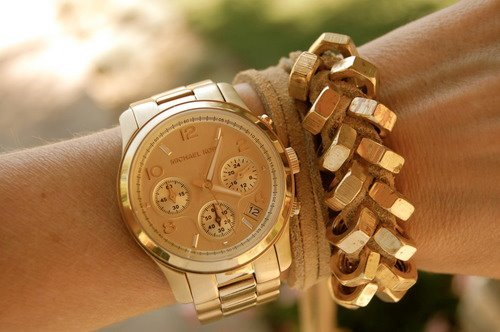 bling, fashion, gold, michael kors, silver