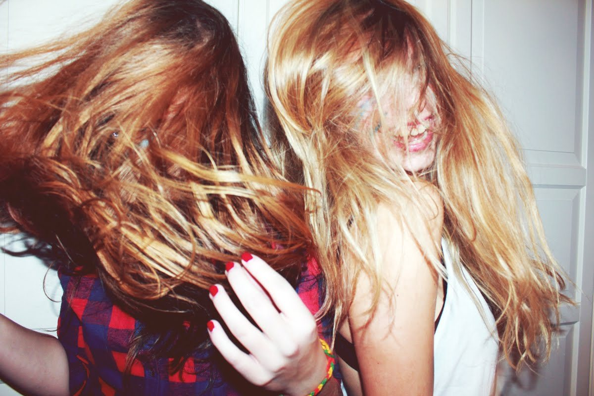 blond, color, friends, fun, girls