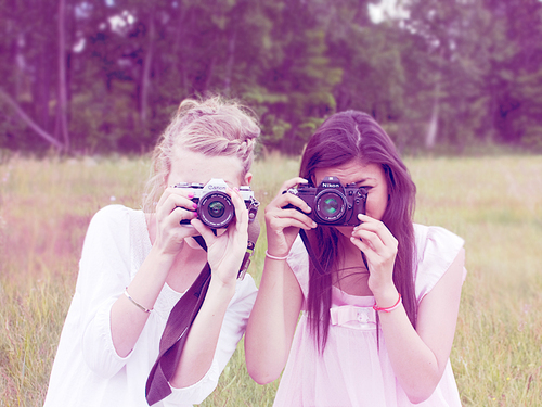 blonde, camera, followmeonweheartit, friend, friends