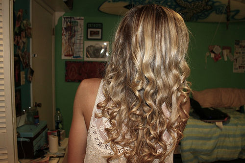 blonde, color, curls, fashion, girl