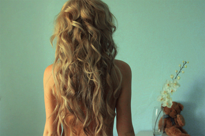blonde, curls, girl, hair