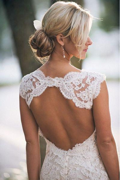 blonde, dress, nice, open back, outside, stunning, wedding, wedding dress, white