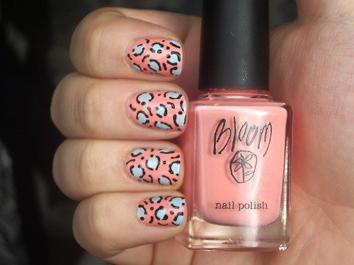 bloom, nail art, nail polish, nails, pink