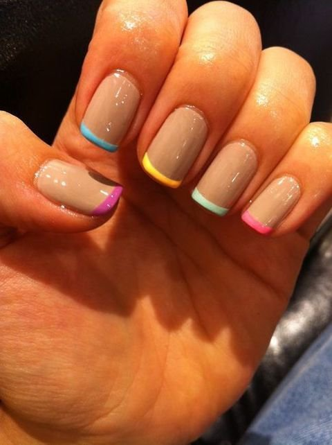 blue, colours, hand, light blue, nail art