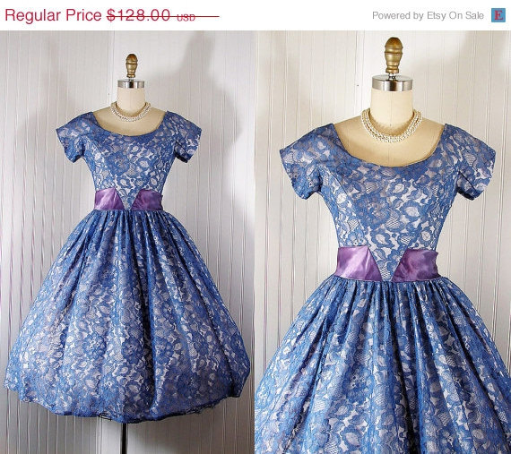 blue, dream, dress, lace, lacy, princess, prom, skirt, vintage, wedding