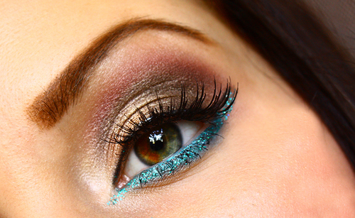 blue, eye, eyebrow, make up, mascara