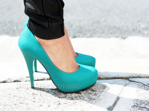 blue, fashion, heels, high heels, shoes