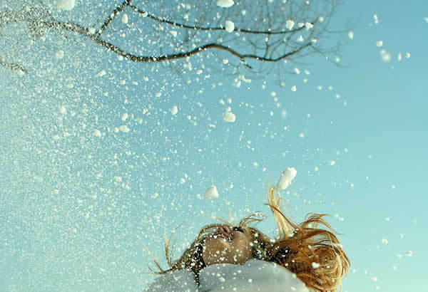 blue, girl, happy, photography, snow