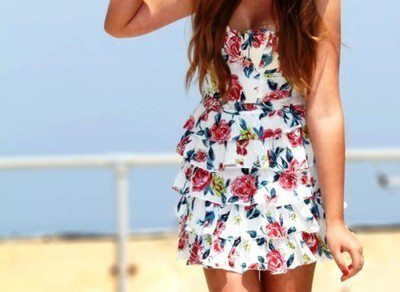 boat, cute, dress, fashion, flower dress, flowers, girl, holiday, nailpolish, photography, pretty, red, red hair, roses, sea, summer, yellow