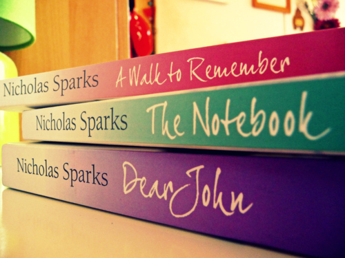 book, books, dear john, the last song, the notebook