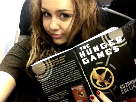 book, bullshit, girl, lol, miley cyrus, the hunger games