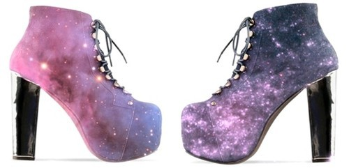 boots, fashion, galaxy, heels, high heels, shoes, space, stars