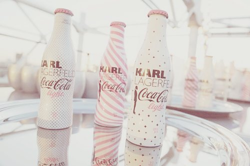 bottle, coca, coca-cola, coke, cola, cute, dotted, drink, karl, lagerfeld, pastel, pink, white