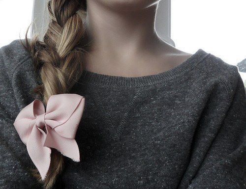 bow, brown, cute, fashion, hair, hair bows, love, pullover, r u n w a y, ribbons, vogue