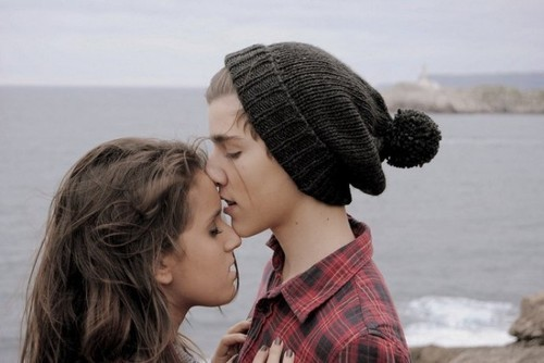 boy, couple, cute, friends, girl, kissing, love
