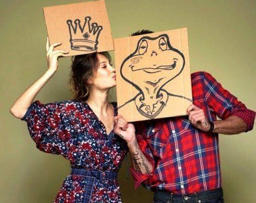 boy, couple, cute, frog, funny