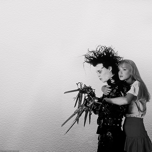 boy, couple, edward, edward scissorhands, girl