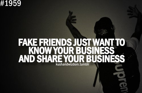 business, fake, friends, kushandwizdom, life