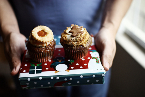 cake, christmas, cupcake, cute, gingerbread man