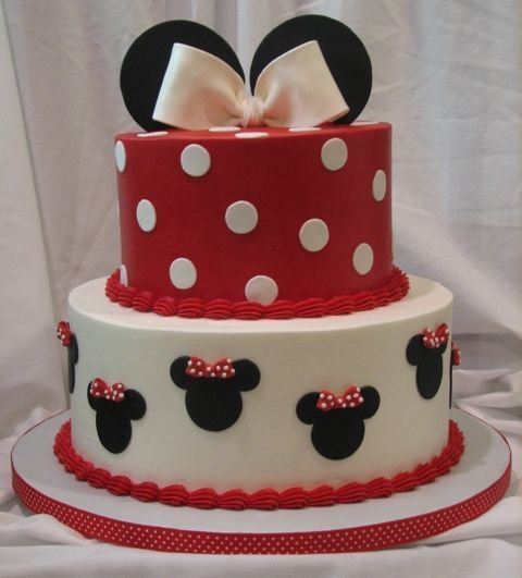 cake, cute, disney, minie mouse