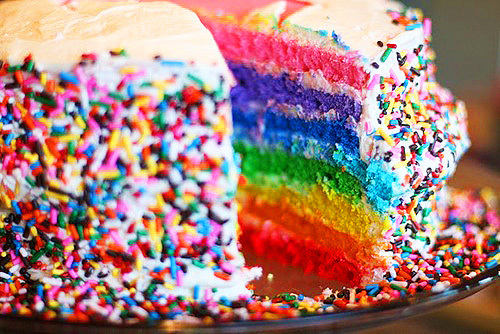cake, food, layered cake, rainbow, rainbow cake