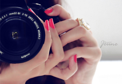 camera, canon, hand, nails, nikon, photography, pink