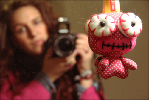 camera, fashion, girl, hipster, monster, photography, pink