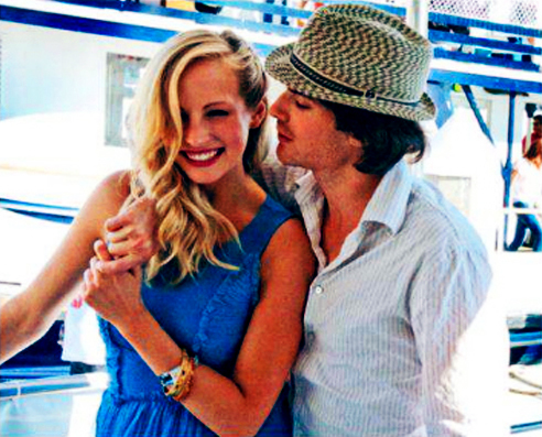 candice accola, caroline forbes, cute, damon salvatore, ian somerhalder
