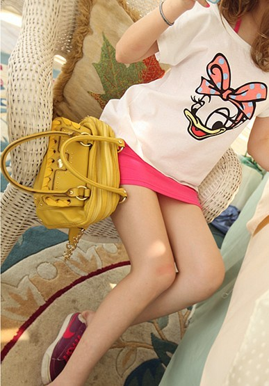chair, cute, daisy duck, disney, pink skirt