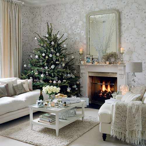 christmas, inspiration, interior, knitted, livingroom