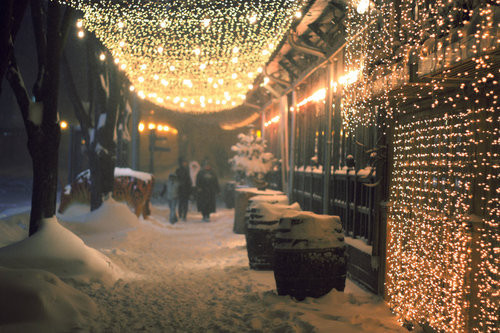 christmas, light, lights, night, photo, photography, pretty, snow, tonight, view, winter