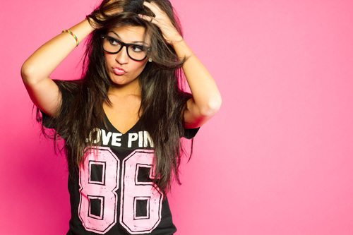 clothes, crazy, fashion, girl, hair, love pink, pink