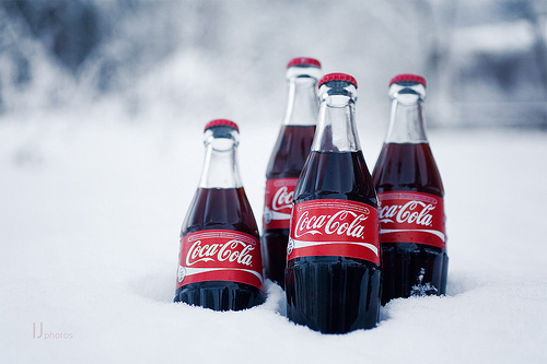 coca cola, coke, cute, drink, snow