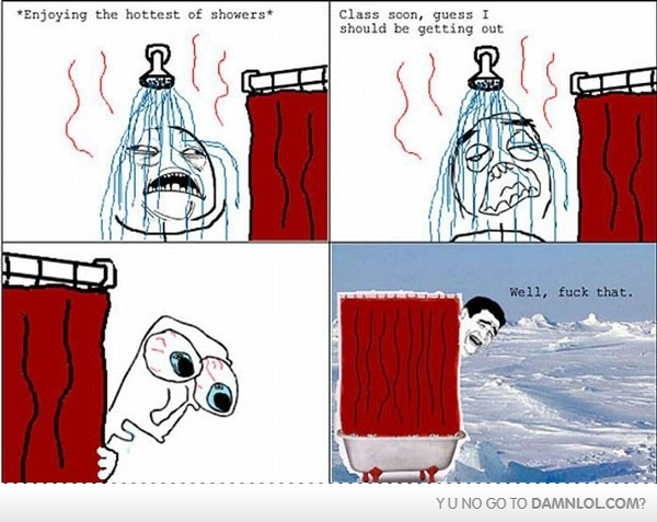cold, funny, meme, shower