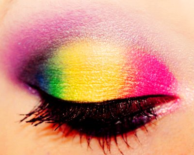 colorful, eye shadow, make-up, pretty, rainbow