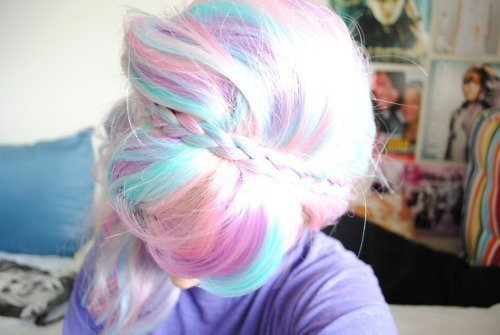 colors, gilr, hair, mode