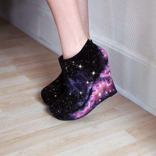cool, cute, fashion, galaxy, heels