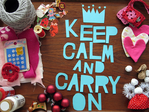cool, hearts, keep calm and carry on, paper, photography