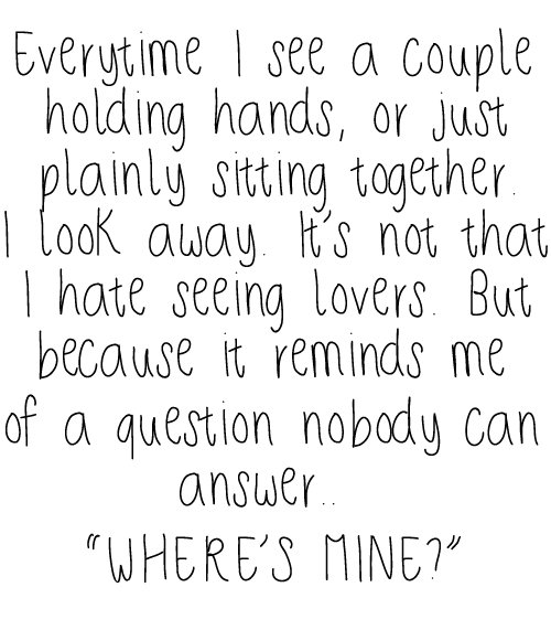couple, hurt, lonely, love, quote