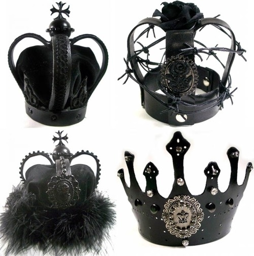 crown, cute, goth, gothic, princess