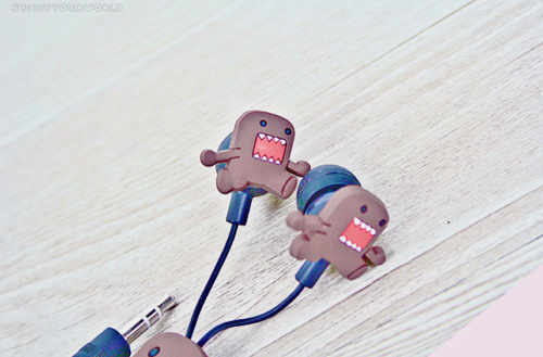 cute, domo, earphones