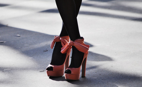 cute, elegant, fashion, heels, leggings, pretty, red, ribbon, shoes