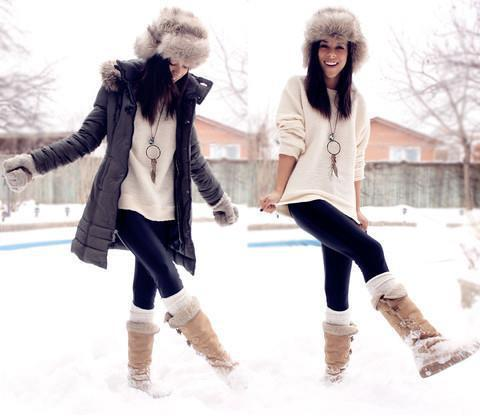 cute, fashion, girl, girlfriends, snow, winter